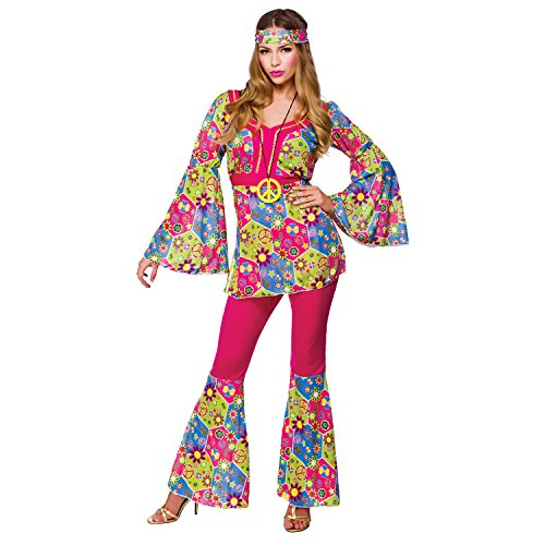 Feeling Groovy Hippie - Adult Costume Lady : Large Size 18-20