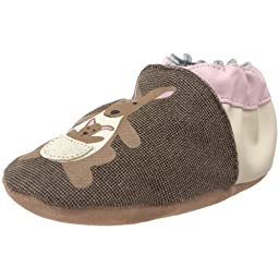 Robeez Soft Soles Organic Kangeroo Crib Shoe (Infant/Toddler),Brown,18-24 Months (6.5-8 M US Toddler)