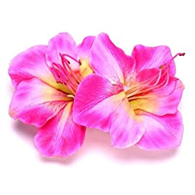 KARIN'S GARDEN Silk Amaryllis French Hair Clip - Pink - $25, available at Amazon.com