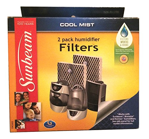 New Sunbeam SW2002-UM Cool Mist Humidifier Replacement Wick Filter Type G (Sunbeam Humidifiers For Bedroom compare prices)