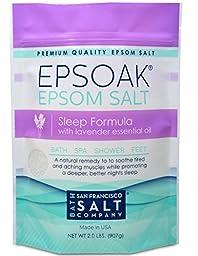 Epsoak Epsom Salt Sleep Formula 2lbs - Sleep Well & Relax with Epsom Salt & 100% natural Lavender Essential Oil