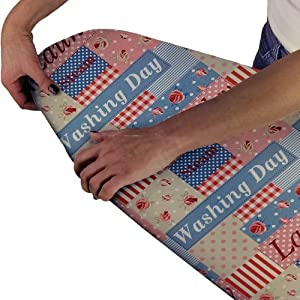 Beam Feature Printed Ironing Board Cover, Washing Day FREE DELIVERY
