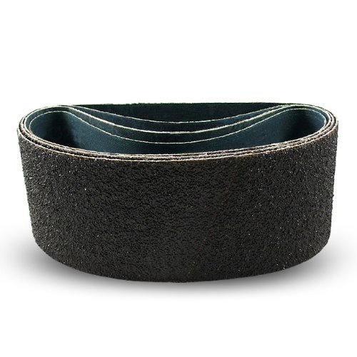4 X 21 Inch 80 Grit Silicon Carbide Sanding Belts, 3 Pack