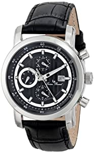 Lucien Piccard Men's LP-12584-01 Toules Analog Display Swiss Quartz Black Watch