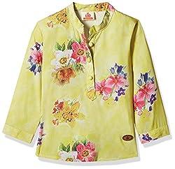 UFO Girls' Shirt (AW16-WF-GKT-324_Yellow_14 - 15 years)