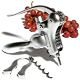 Pinzon Matte Chrome-Plated Corkscrew and Foil Cutter Set