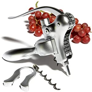 Pinzon Matte Chrome-Plated Corkscrew and Foil Cutter Set
