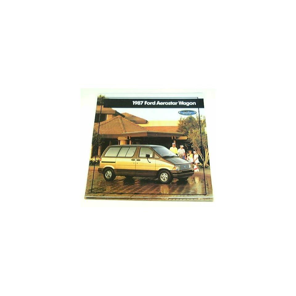 1987 87 Ford AEROSTAR WAGON Van BROCHURE Std XL XLT