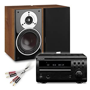 Review and Buying Guide of Cheap Creative Audio CA-MS40-BW Micro Stereo System (Denon DM39DAB Black + DALI ZENSOR 1 Walnut + £55 QED cable bundle). 2 Year Guarantee + Free next working day delivery (most mainland UK addresses)!