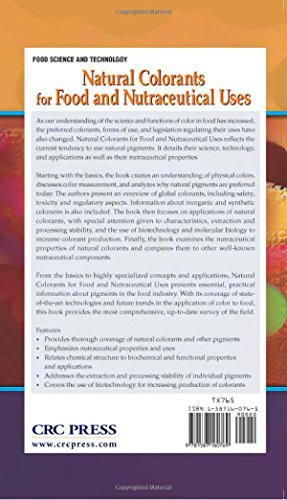 Natural Colorants for Food and Nutraceutical Uses (Food Science and Technology)