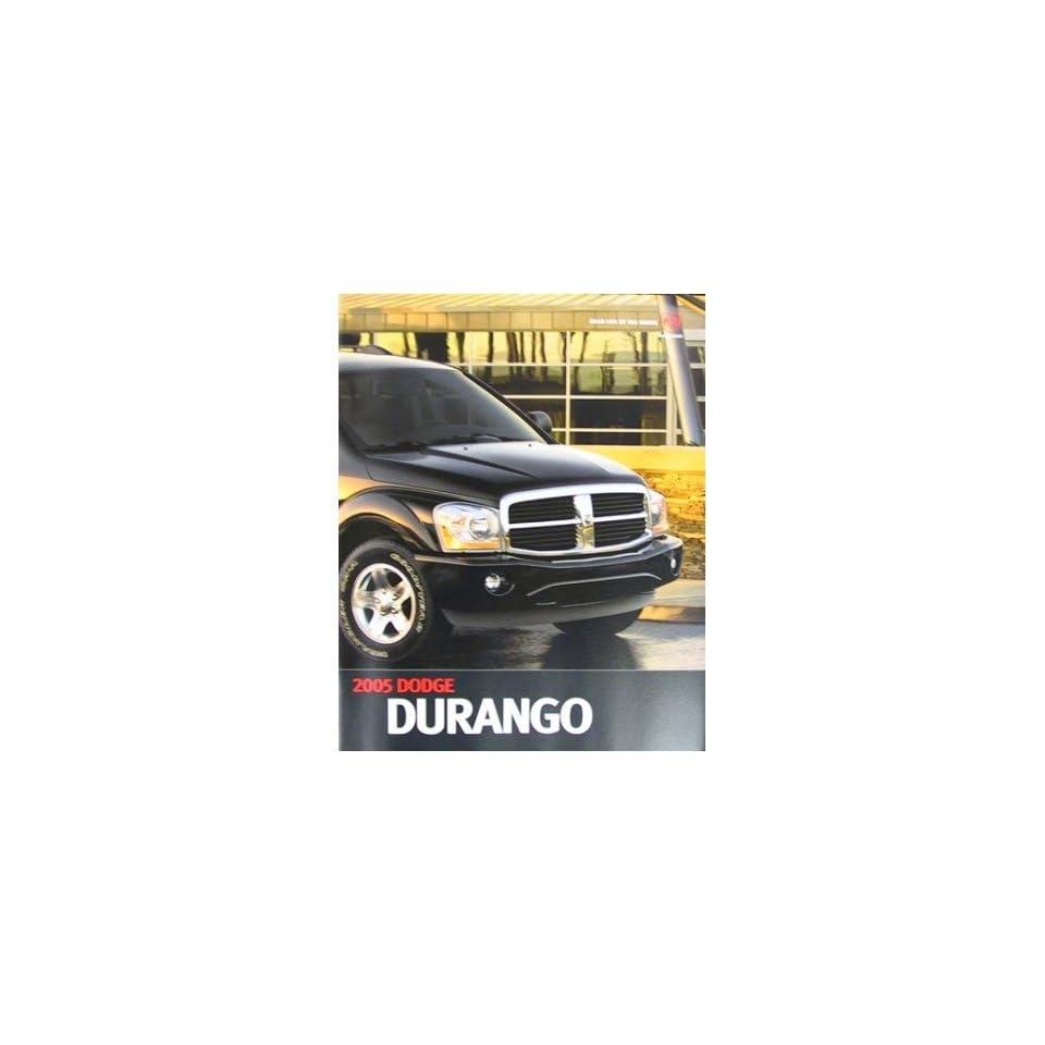 2005 Dodge Durango Sales Brochure Literature Advertisement Options Colors Automotive