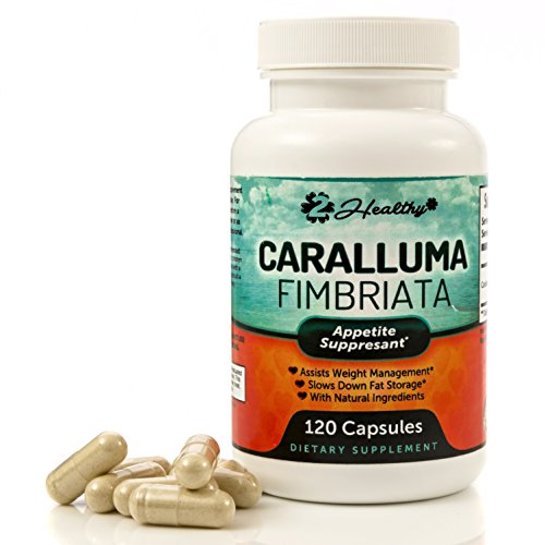 Pure Caralluma Fimbriata Extract 1000mg - 120 Veggie Capsules (60 Day Supply) - Appetite Suppressant Supplement & Loss, Carb Blocker, Assists in Slim Weight Loss Management with Exercise to Burn Fat (Caralluma Extract 1000 compare prices)