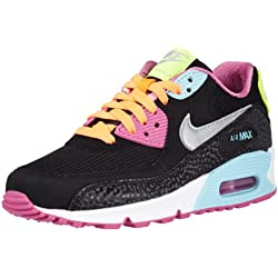 Nike Air Max 90 2007 (GS) Schuhe black-metallic silver-red volt-glacier ice