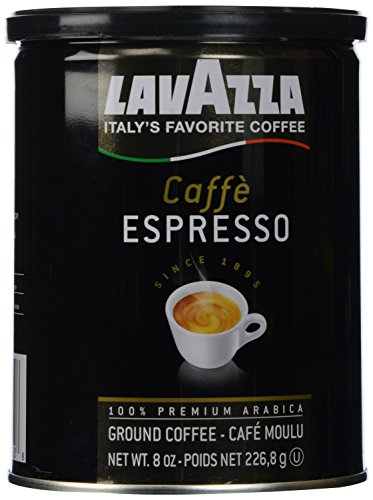 Lavazza Italian Coffee, Caffe Espresso, 100% Premium Arabica Ground Coffee, 8-Ounce Can