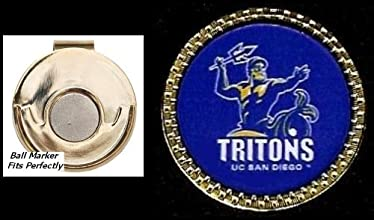 Collegiate Golf Ball Marker amp Magnetic Hat Clip Cal San Diego