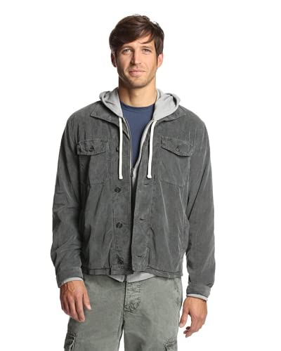 James Perse Men's Jersey Lined Cord Shirt