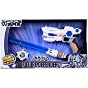 SPACE WARS SERIES: PLANET OF TOYS SPACE WEAPON SET COMBO GUN 24CMS, EXPANDABLE SWORD 61CMS, (LED LIGHT AND SOUND...
