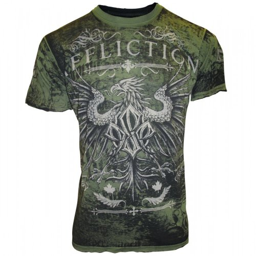 Affliction Georges St-Pierre Reversible Icon T-Shirt [Military Green], Large