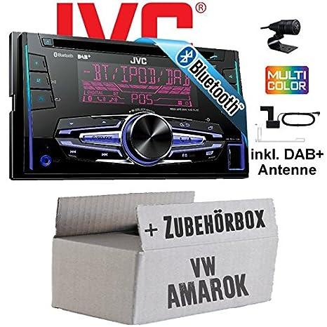 VW Amarok - JVC KW-DB92BT - 2DIN USB Bluetooth DAB+ Autoradio inkl. DAB+ Antenne - Einbauset