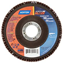 Norton Blaze R980 Abrasive Flap Disc, Type 27, Threaded Hole, Fiberglass Backing, Ceramic Aluminum Oxide