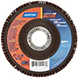 Norton Blaze R980 Abrasive Flap Disc, Type 27, Round Hole, Fiberglass Backing, Ceramic Aluminum Oxide