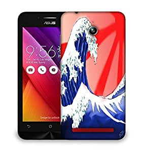 Snoogg Sea Waves Designer Protective Phone Back Case Cover For Asus Zenfone GO