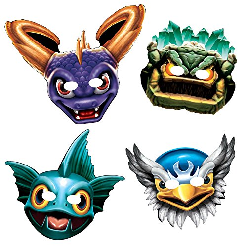 [Skylanders 634; Paper Masks (8 Pack) - Party Supplies] (Gill Grunt Costumes)