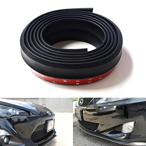 iJDMTOY Universal PU Front Bumper Lip Splitter Chin Spoiler Body Kit Trim, 8ft (2.5 Meters), Matte Black (Body Kit Mazda 3 compare prices)