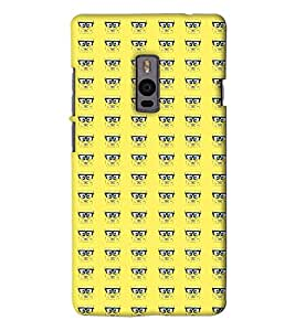 Go Yankee spongbob pattern back Cover For One Plus Two