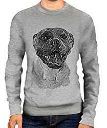 American Bulldog Sketch Unisex Printed Sweater Jumper Top - Mens/Womens/Ladies