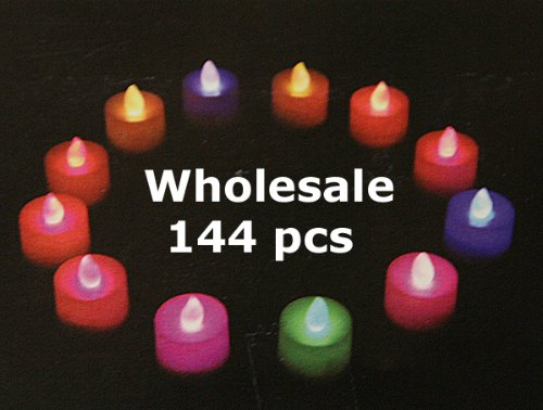 Wholesale Led Color Changing Tea Lights 144 Pcs - True Flicker