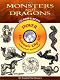 img - for Monsters and Dragons (Dover Electronic Clip Art) (CD-ROM and Book) book / textbook / text book