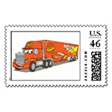 Cartoon Red Truck Disney Stamp