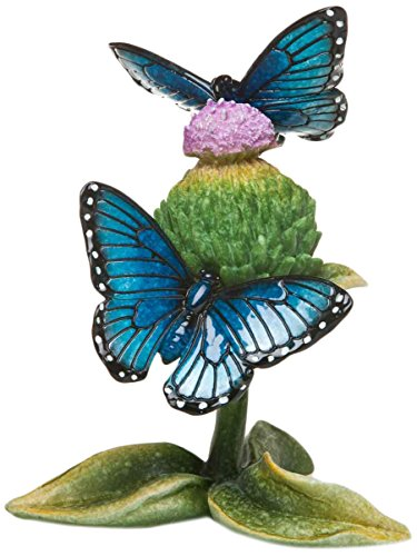 Big Sky Carvers Stonecast Morph Butterflies Sculpture, Blue