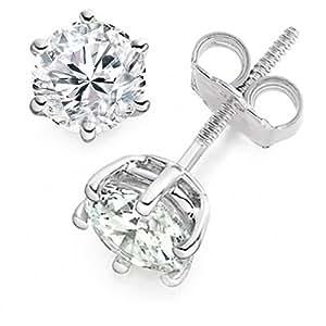 Diamond Manufacturers - Boucles d'Oreilles Femme avec diamanten - Platine