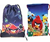 Angry Birds Drawstring Bags (2 Bags)