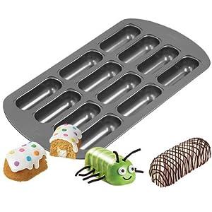 2X Wilton 2105-3646 Non-Stick 12-Cavity Delectovals Cake Pan