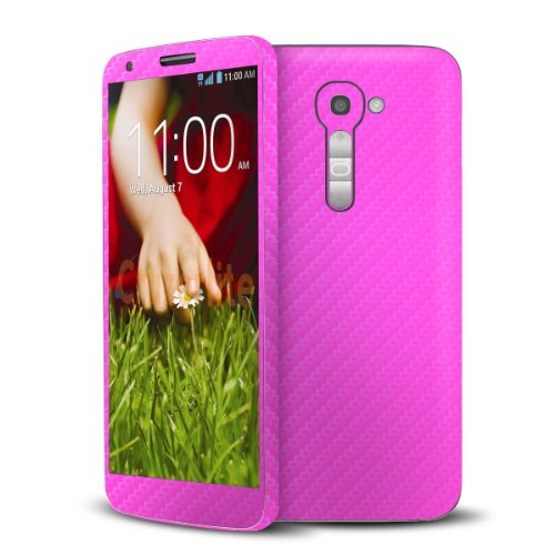 Cruzerlite Pink Carbon Fiber Skin Case for LG G2 Model VS980 - Retail Packaging (Lgg2 Carbon Fiber compare prices)