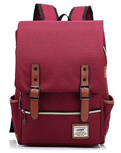 freemaster Vintage Casual Unisex Zaino Scuola Borsa Da Viaggio Zaino Daypack Tablet Borse, Red (rosa) - UKBB0006