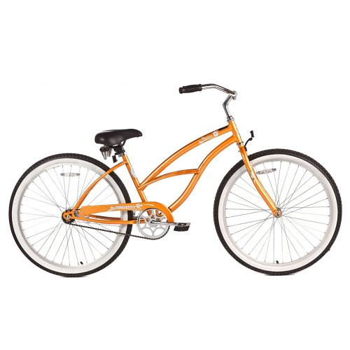 Micargi Pantera Beach Cruiser Bike, Orange, 26-Inch