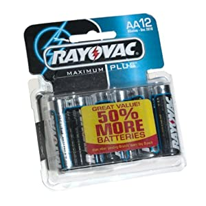 Rayovac 815-12C AA Alkaline Battery - 12 Pack