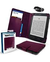 """Amazon Kindle 4 Etui / Housse - POURPRE ('SD Folio' Tablet Case / Cover / Pouch) avec Lampe de lecture (Clip-On LED Reading Lamp) à partir de G-HUB pour 6"""" (inch / pouce) Model (4ème Génération / 2011 / WiFi / etc.)"""