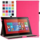 MoKo Nokia Lumia 2520 Case - Slim-Fit Multi-angle Stand Cover Case for Nokia Lumia 2520 10.1 Inch Microsoft Windows RT 8.1 Tablet, MAGENTA (With Smart Cover Auto Wake / Sleep)