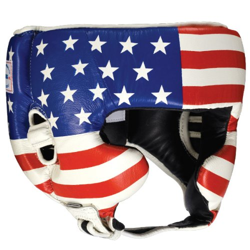 Ringside Competition Boxing Headgear with Cheeks (Usa Flag, Medium)