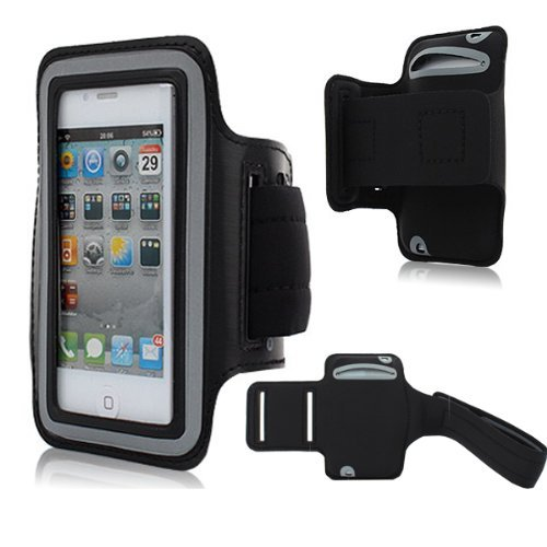 Moon Monkey Easefit Sweat-Proof Neoprene Sports Armband For Iphone 5, 5S, 5C And Ipod Touch 5Th Generation (Black)
