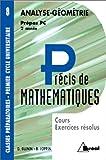echange, troc Daniel Guinin, Bernard Joppin - Précis de mathématiques, tome 8 : Analyse et géométrie, Prépas PC - 2e année