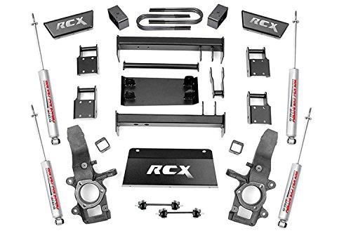 Rough Country - 476.20 - 4-5-inch Suspension Lift Kit (4-inch Rear Blocks) w/ Premium N2.0 Shocks (02 Ford F150 Lift Kit compare prices)
