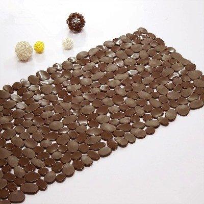 Newrara Pebbles Solid Color Environmental Protection Pvc Plastic Floor Mats Doormat/mats/the Bathroom Bath Mat (Brown)