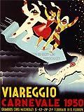 ADVERT EXHIBITION FESTIVAL MASKED CARNIVAL VIAREGGIO ITALY POSTER 30X40 CM 12X16 IN PRINT ABB5942B