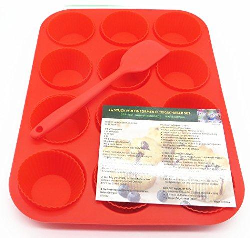 muffin-e-cupcake-rosso-classico-set-per-dolci-1-modulo-silicone-per-cupcake-12-pirottini-di-cupcake-